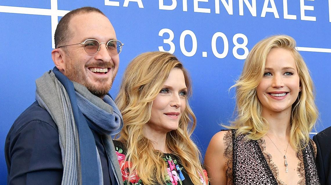 Darren Aronofsky Michelle Pfeiffer Jennifer Lawrence Javier Bardem