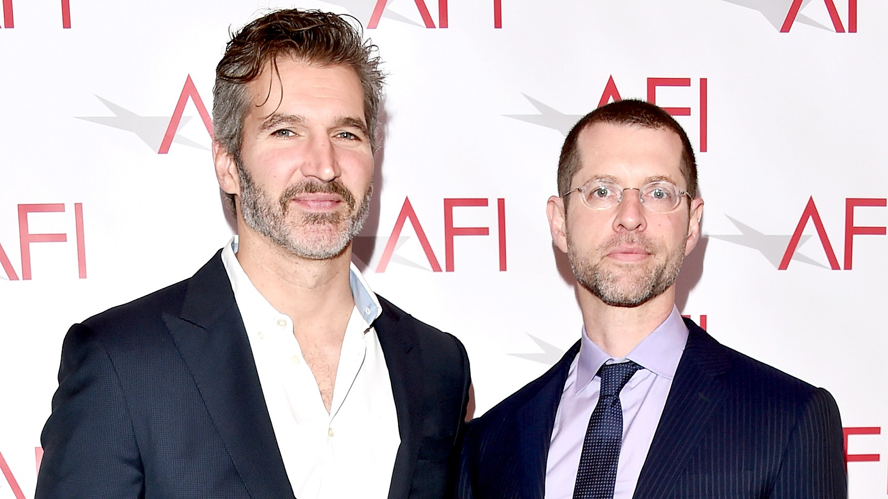 David Benioff and D. B. Weiss attend the 17th annual AFI Awards at Four Seasons Los Angeles at Beverly Hills on January 6, 2017 in Los Angeles, California.