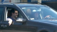 Drew Barrymore was seen driving back home after having lunch with new boyfriend David Hutchinson in West Hollywood.