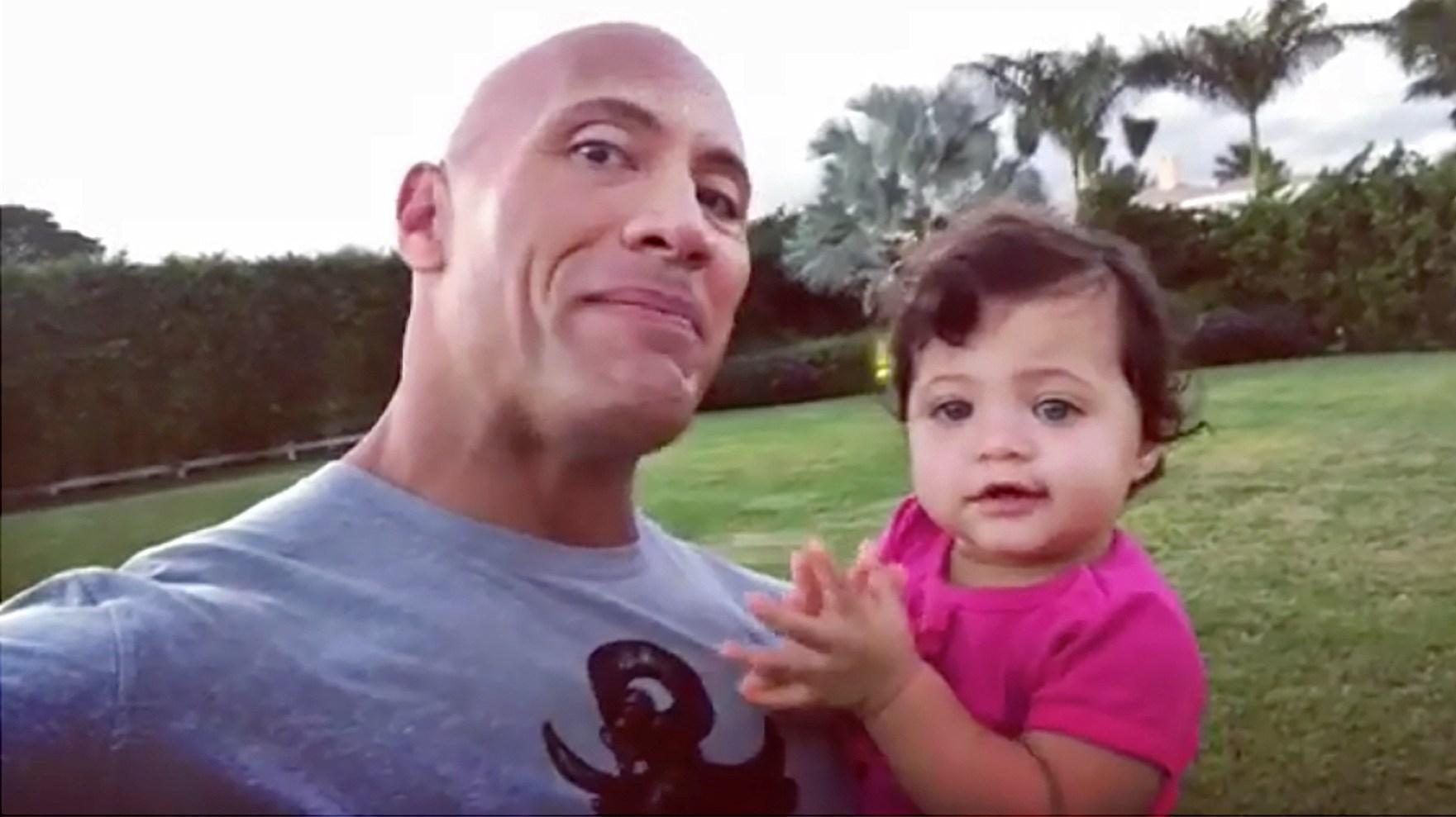 Dwayne 'The Rock' Johnson and Jasmine