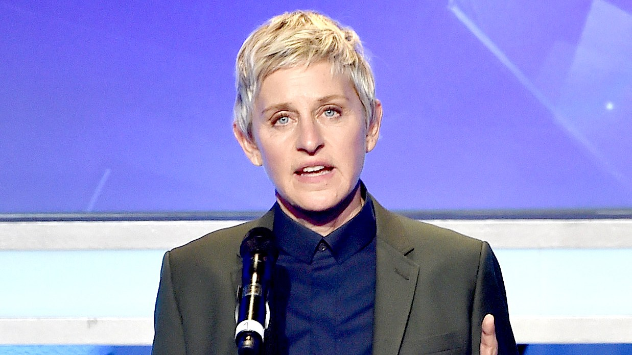 Ellen DeGeneres speaks onstage during the 26th Annual GLAAD Media Awards at The Beverly Hilton Hotel on March 21, 2015 in Beverly Hills, California.