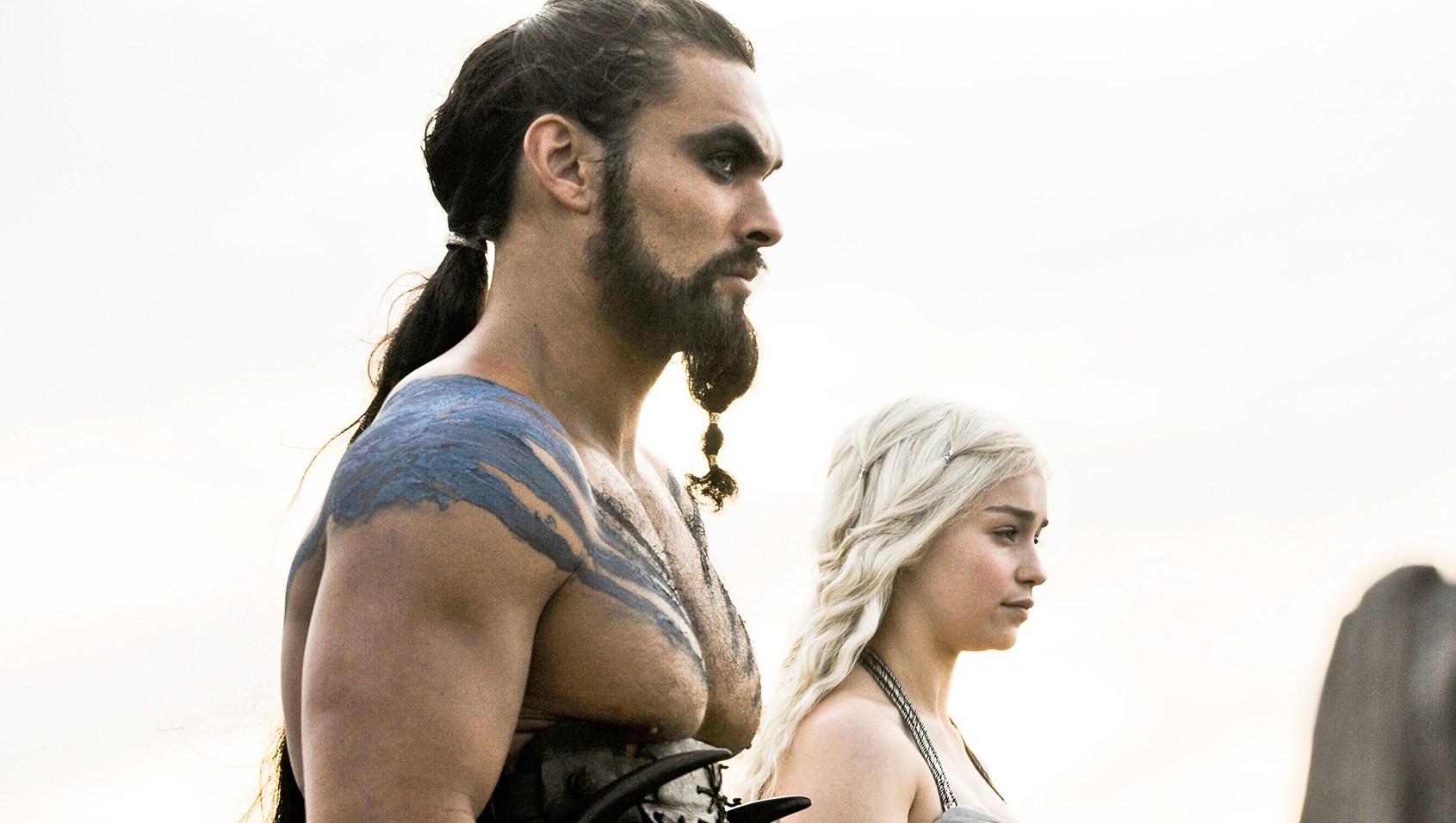 Jason Momoa Emilia Clarke Game of Thrones