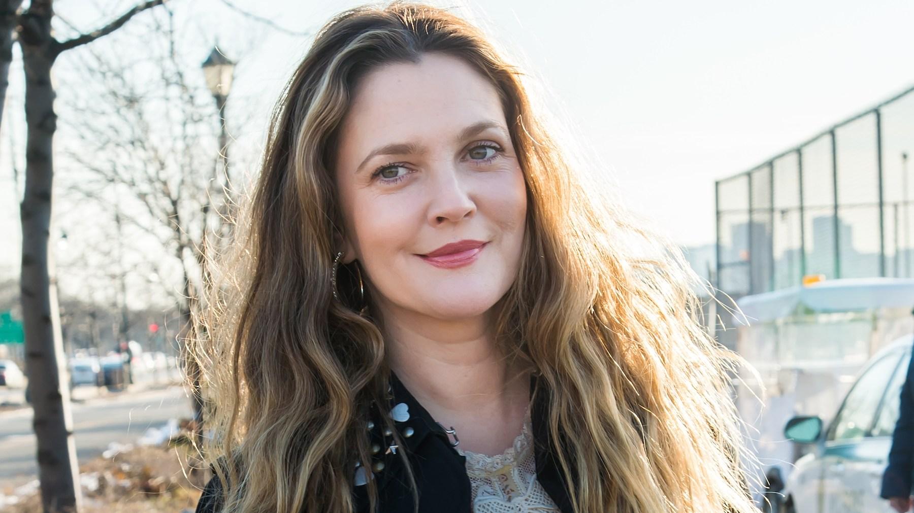 Drew Barrymore Reveals Gray Hair, Unplucked Eyebrows in Makeup-Free Selfie