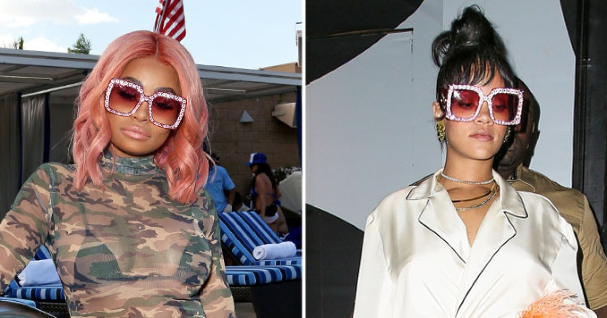 Blac Chyna and Rihanna Wore the Same Pink Gucci Sunglasses ...