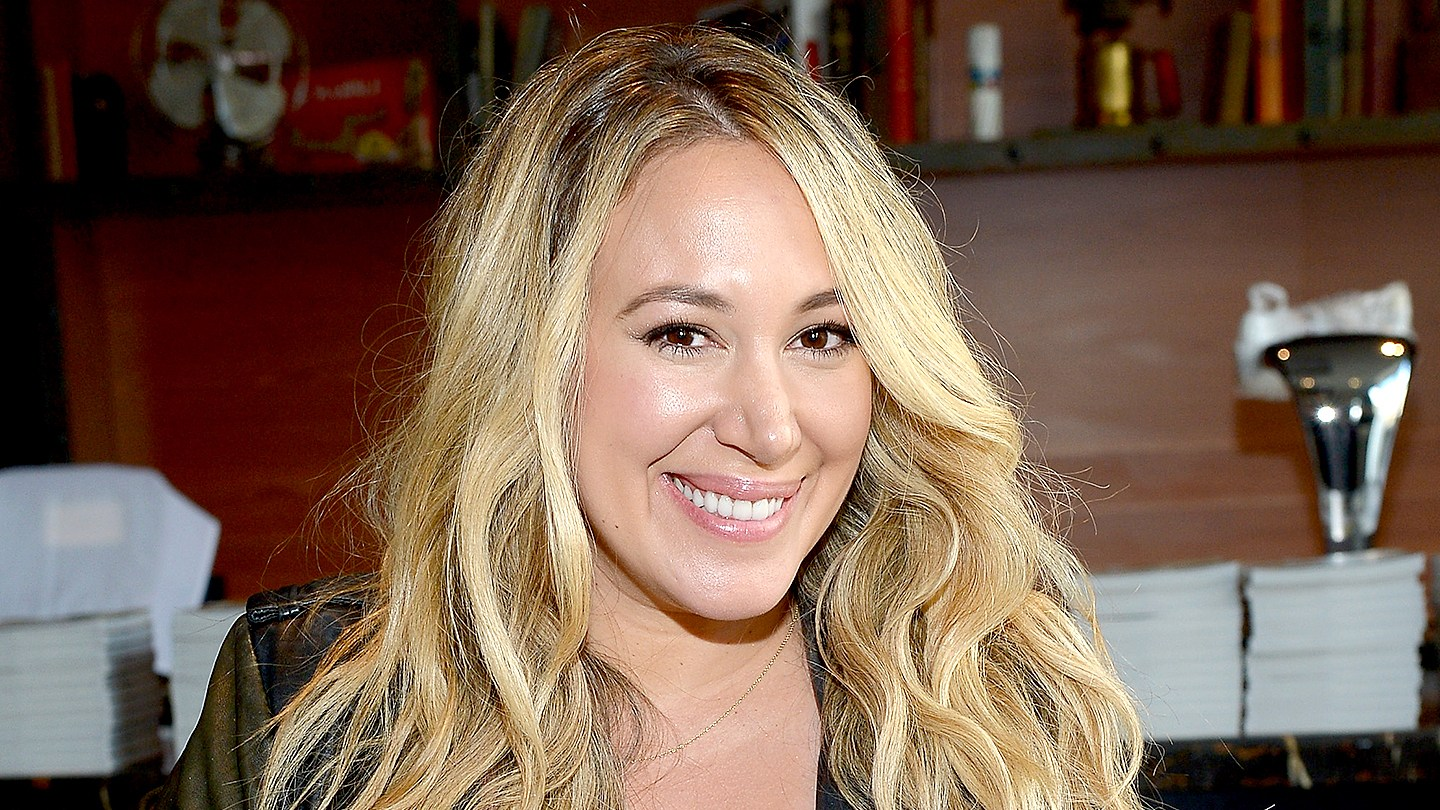 Haylie Duff poses at Veg Out: Stretch, Sip And Savor Presented By Hungryroot Hosted By Haylie Duff during Food Network & Cooking Channel New York City Wine & Food Festival.