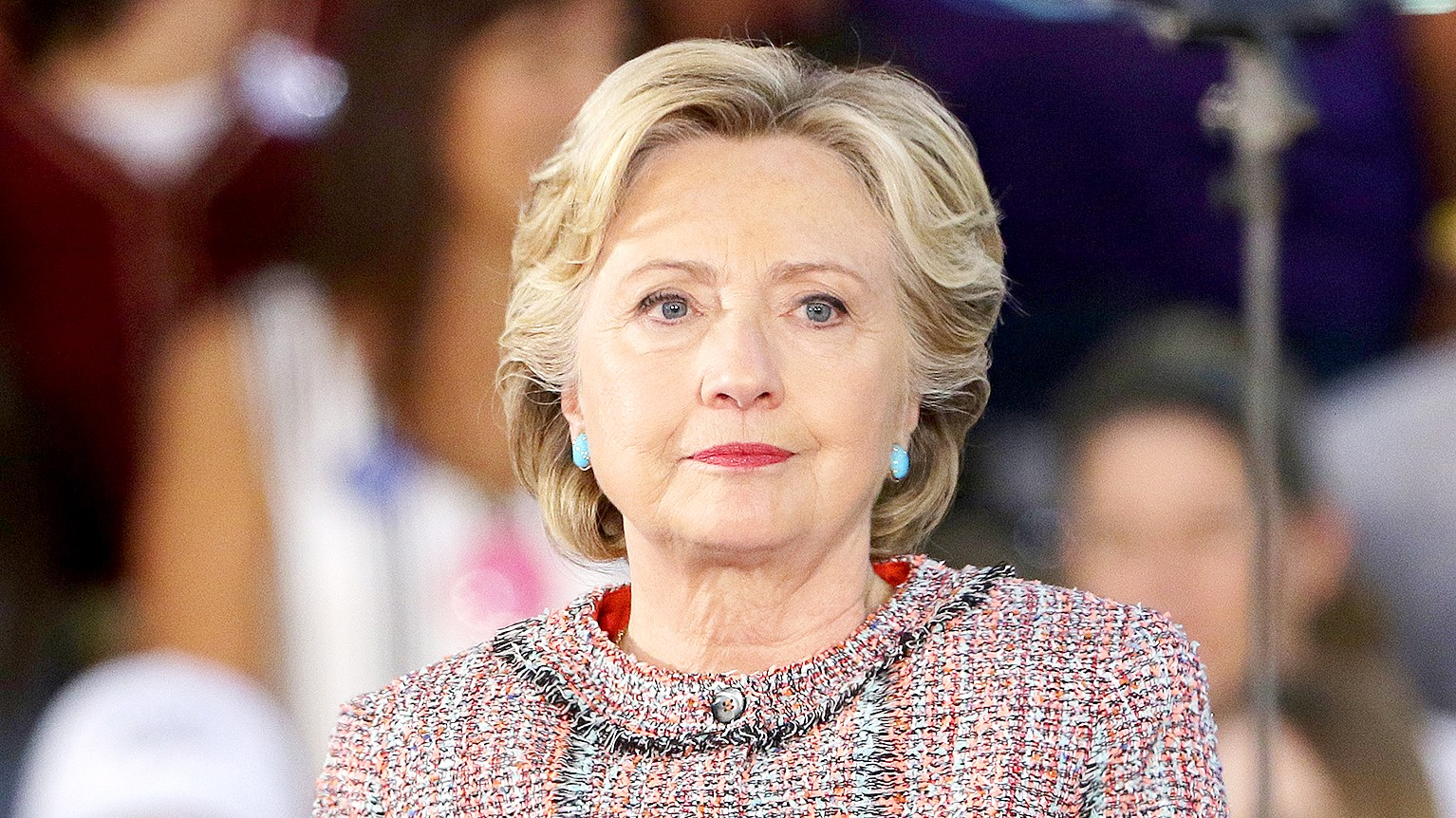 Hillary Clinton is seen during a campaign rally with former Vice President Al Gore at the Miami Dade College - Kendall Campus, Theodore Gibson Center on October 11, 2016 in Miami, Florida.