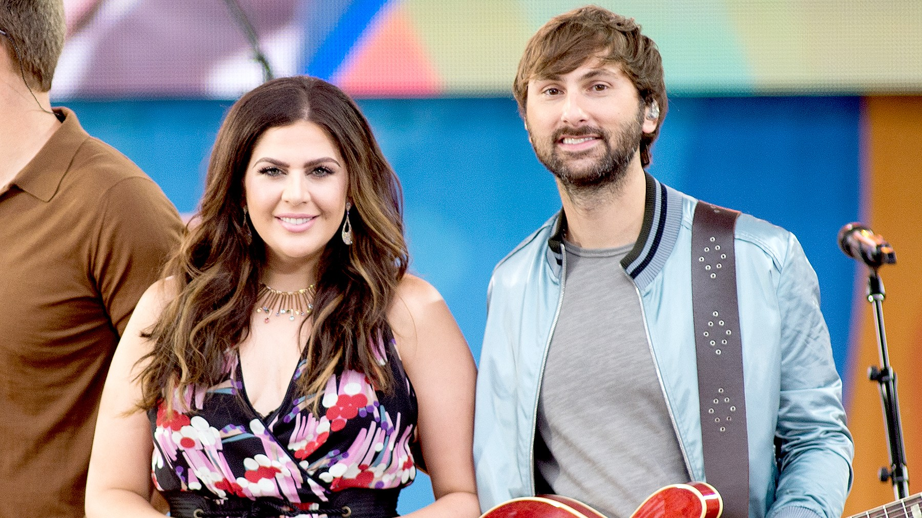 """Hillary Scott and Dave Haywood of Lady Antebellum performs on ABC's """"Good Morning America"""" at Rumsey Playfield on July 14, 2017 in New York City."""