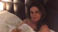 Caitlyn Jenner smiles seductively in Kylie Jenner's Snapchat movie