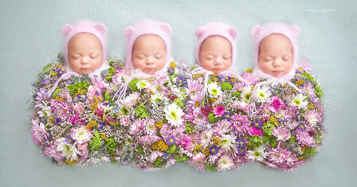 These Identical Quadruplet Baby Girls Are Growing Up Fast!