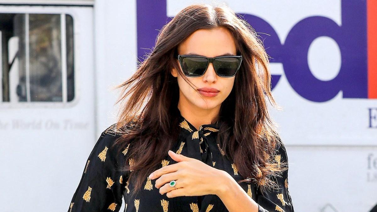 aa3268ea39 Is Pregnant Irina Shayk Engaged to Bradley Cooper  Model Rocks Huge Emerald  Ring
