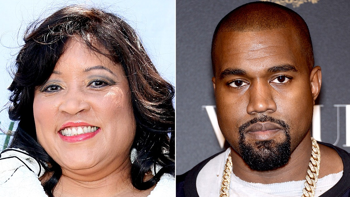 Jackee Harry and Kanye West