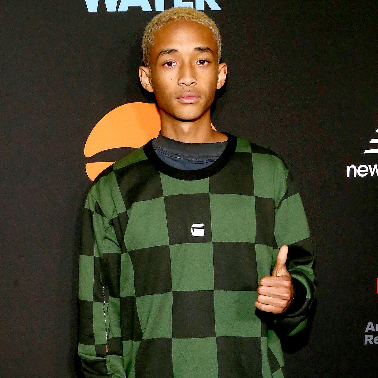 Jaden Smith attends the Umami Burger x Jaden Smith Artist Series Launch Event at The Grove in Los Angeles on October 11, 2017.
