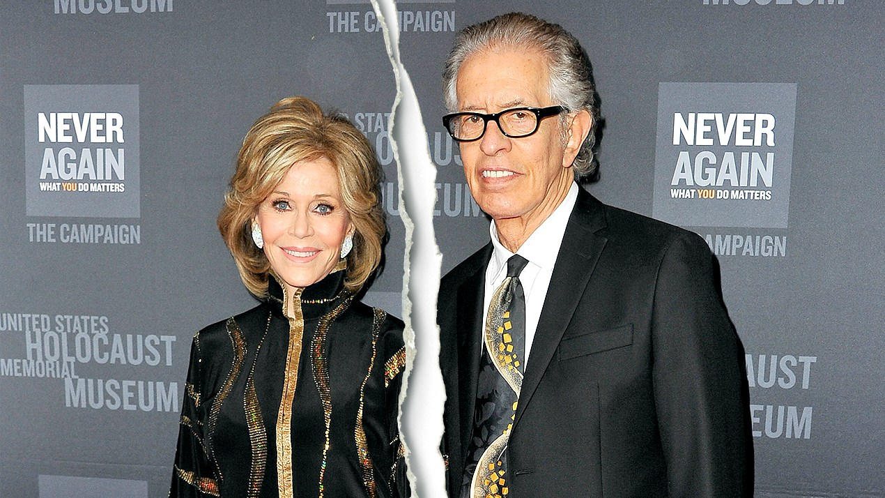 Jane Fonda and Richard Perry attend the 2016 Los Angeles Dinner: What You Do Matters presented by the United States Holocaust Memorial Museum at The Beverly Hilton Hotel on March 2, 2016 in Beverly Hills, California.