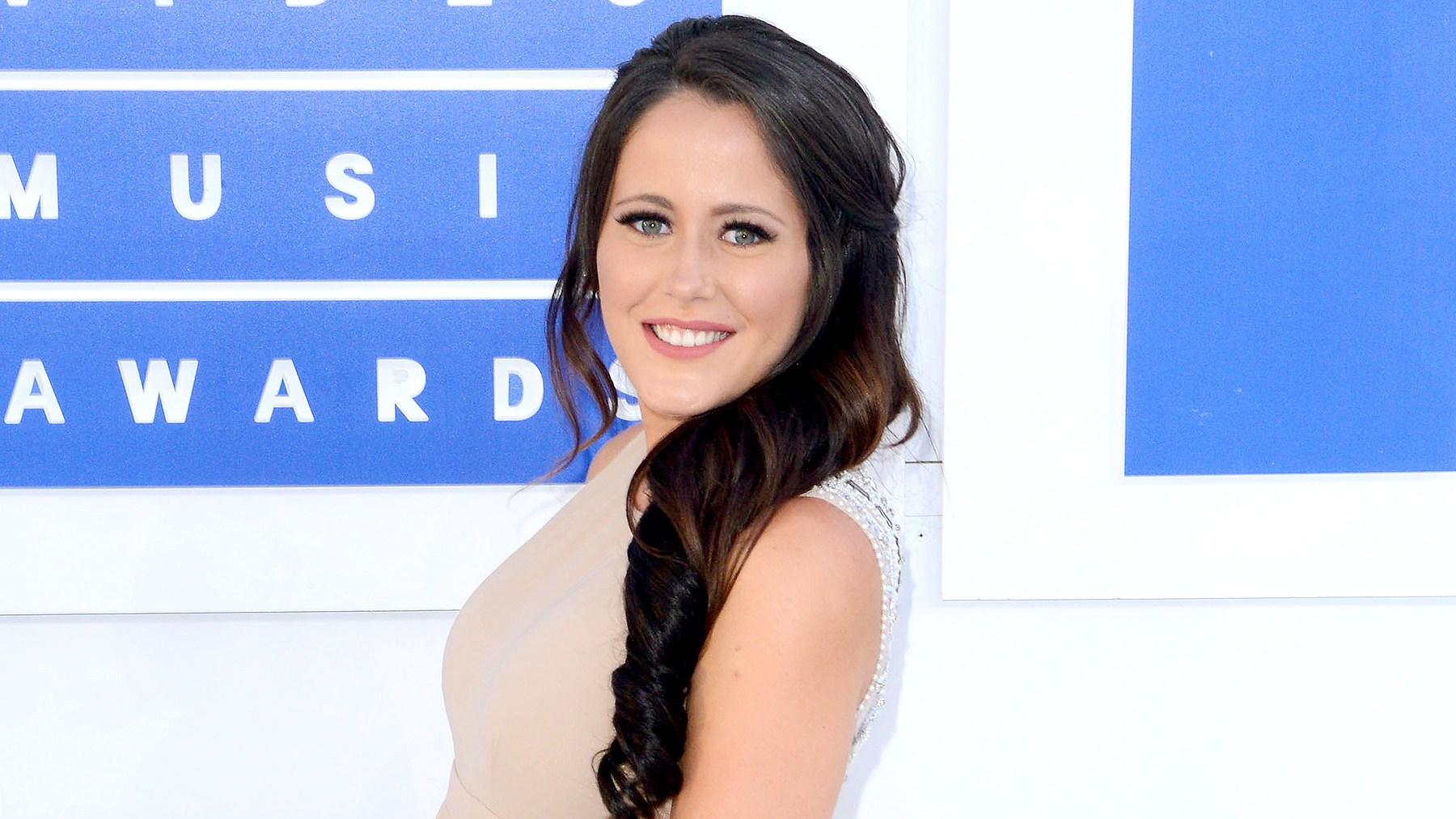 Jenelle Evans arrives at the 2016 MTV Video Music Awards.