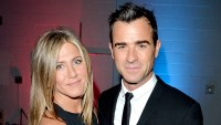 "Jennifer Aniston and Justin Theroux attend the ""Cake"" premiere during the 2014 Toronto International Film Festival."