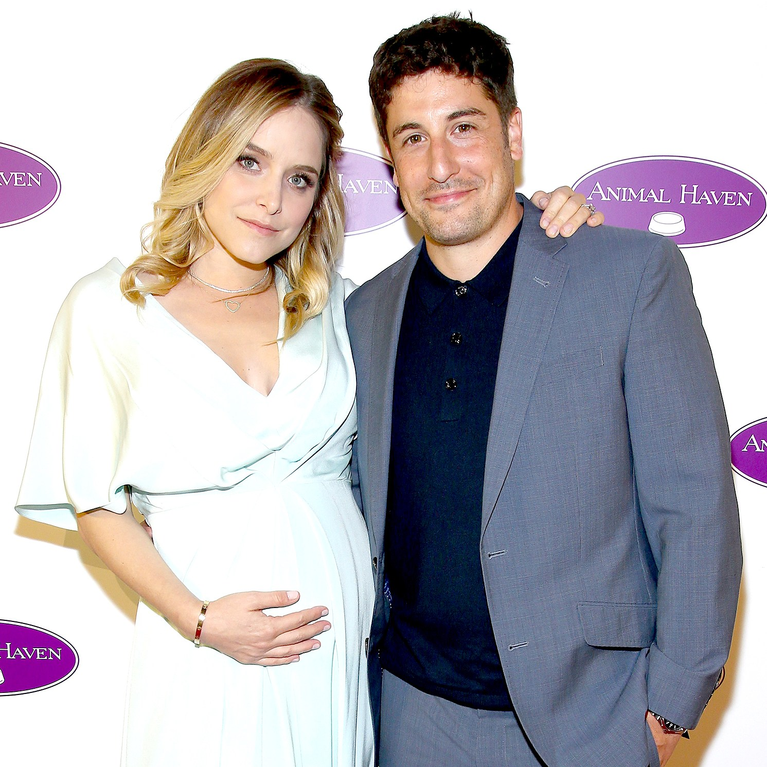 Jenny Mollen (L) and Jason Biggs attend the Animal Haven's 50th Anniversary Party at Capitale on June 14, 2017 in New York City.