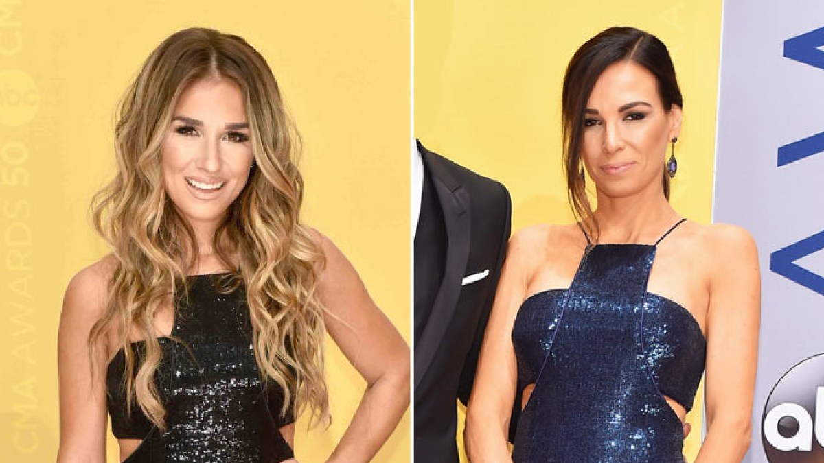 a3c695eb Jessie James Decker and Cassidy Black Wore the Same Sequin Dress at the CMA  Awards 2016