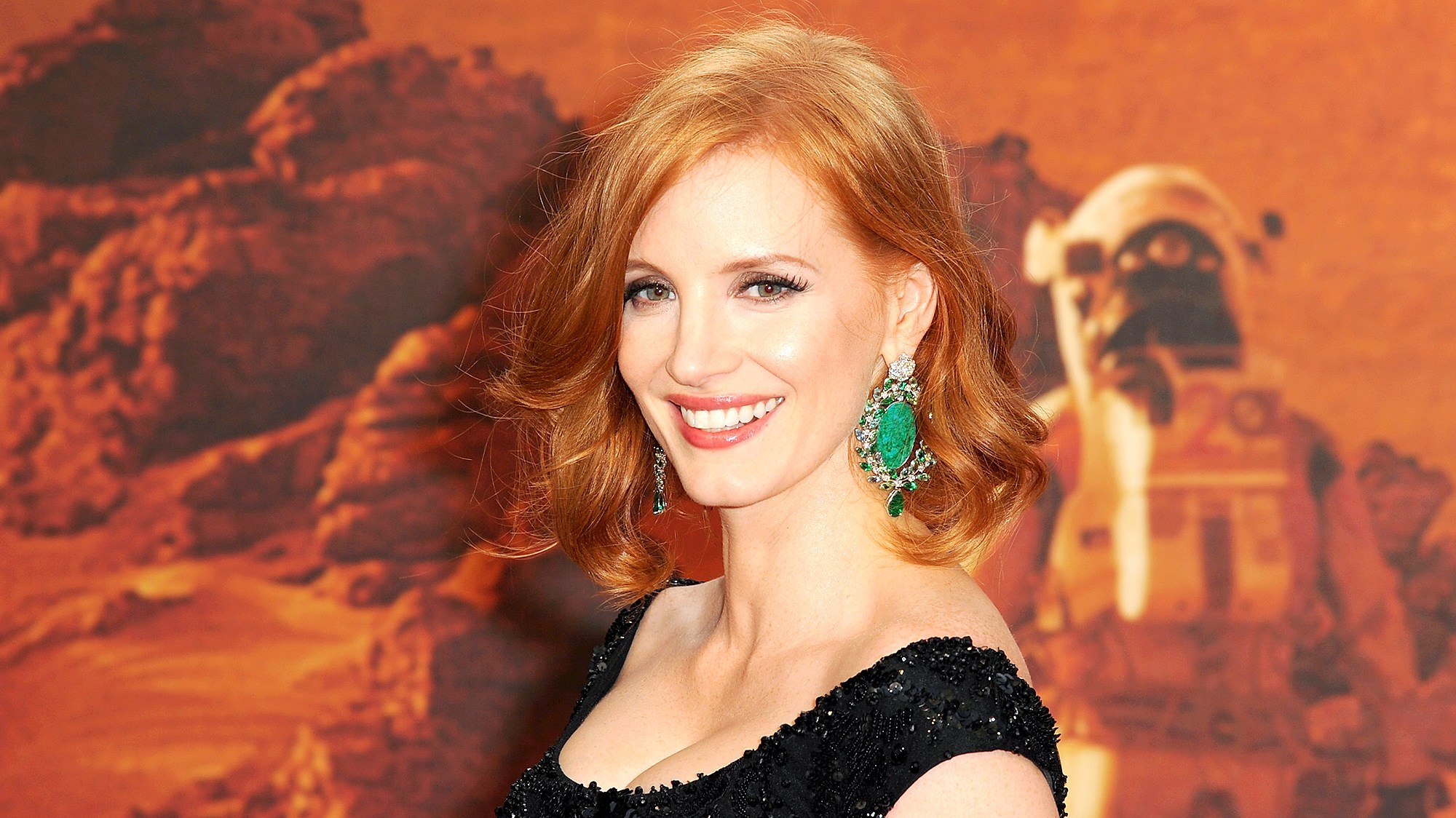 Jessica Chastain attends the European premiere of