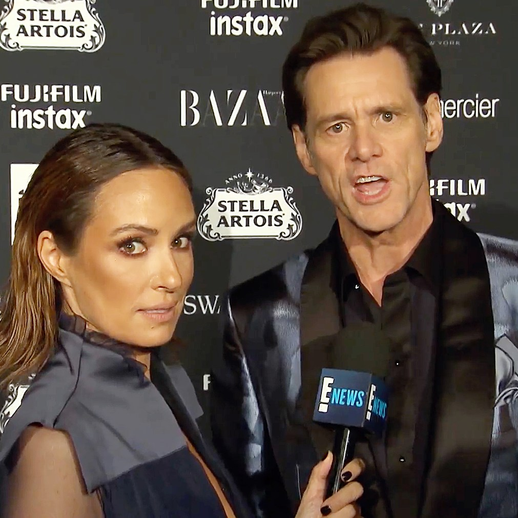 Jim Carrey NYFW Catt Sader interview E!