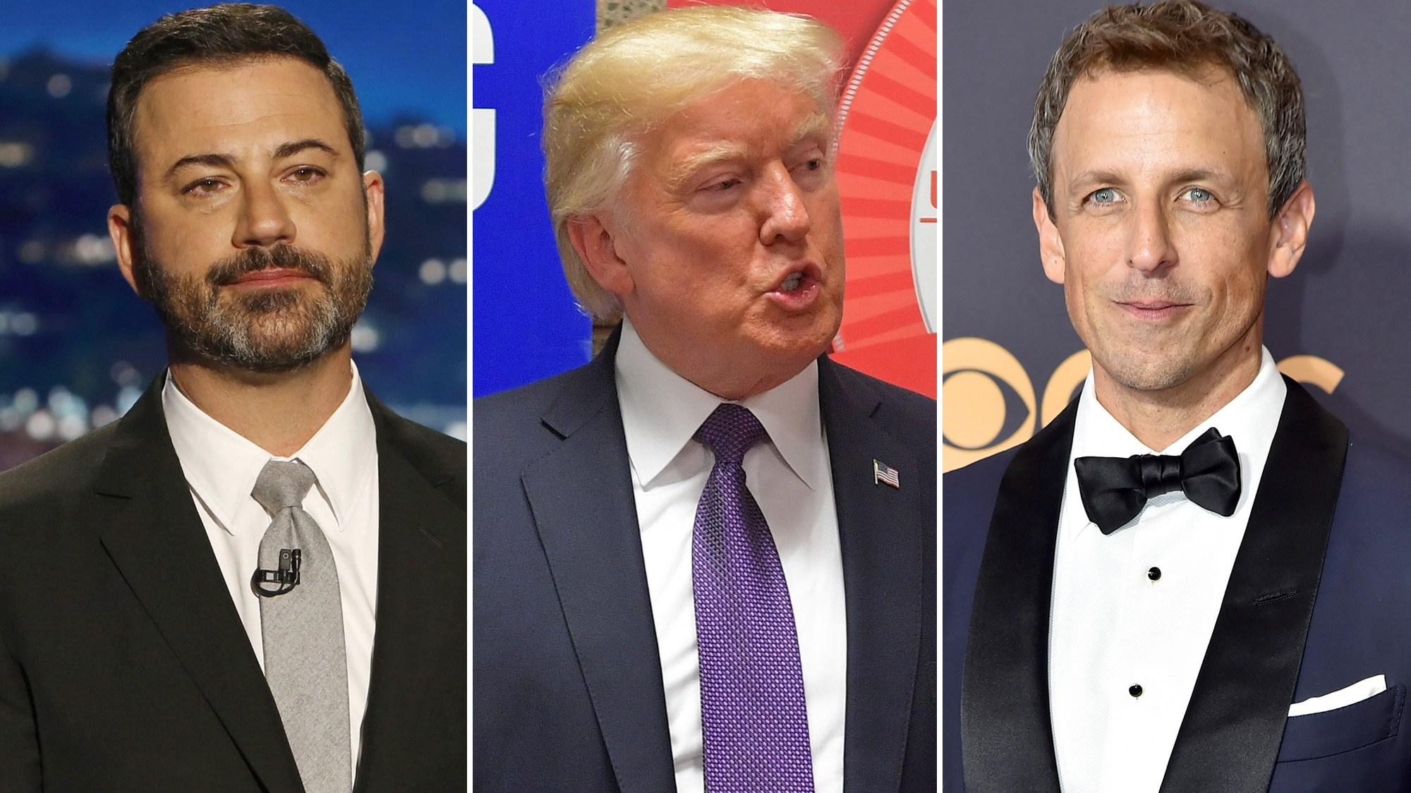Jimmy Kimmel, Donald Trump, Seth Meyers