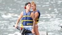 Justin Bieber and Hailey Baldwin jet skiing in Miami