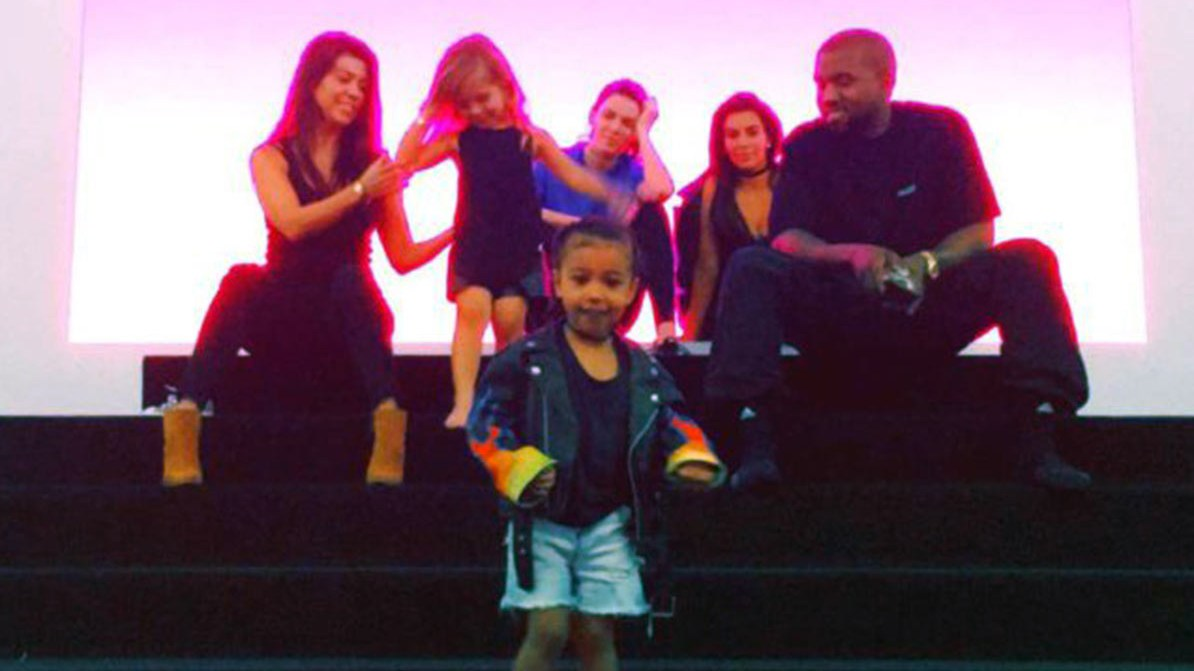 Kanye West, Kim Kardashian, North West