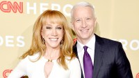 Kathy Griffin and Anderson Cooper attend the 2014 CNN Heroes: An All Star Tribute at American Museum of Natural History on November 18, 2014 in New York City.