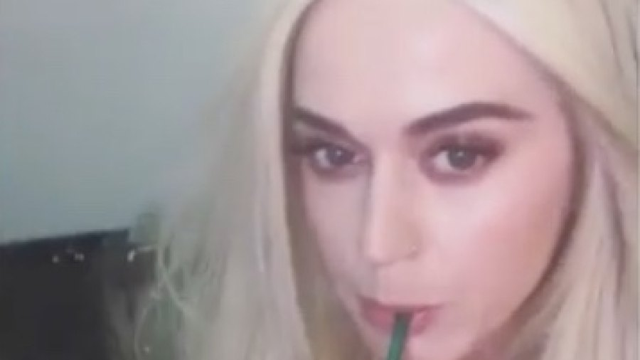Katy Perry Tries, Spits Out Starbucks' Unicorn Frappuccino
