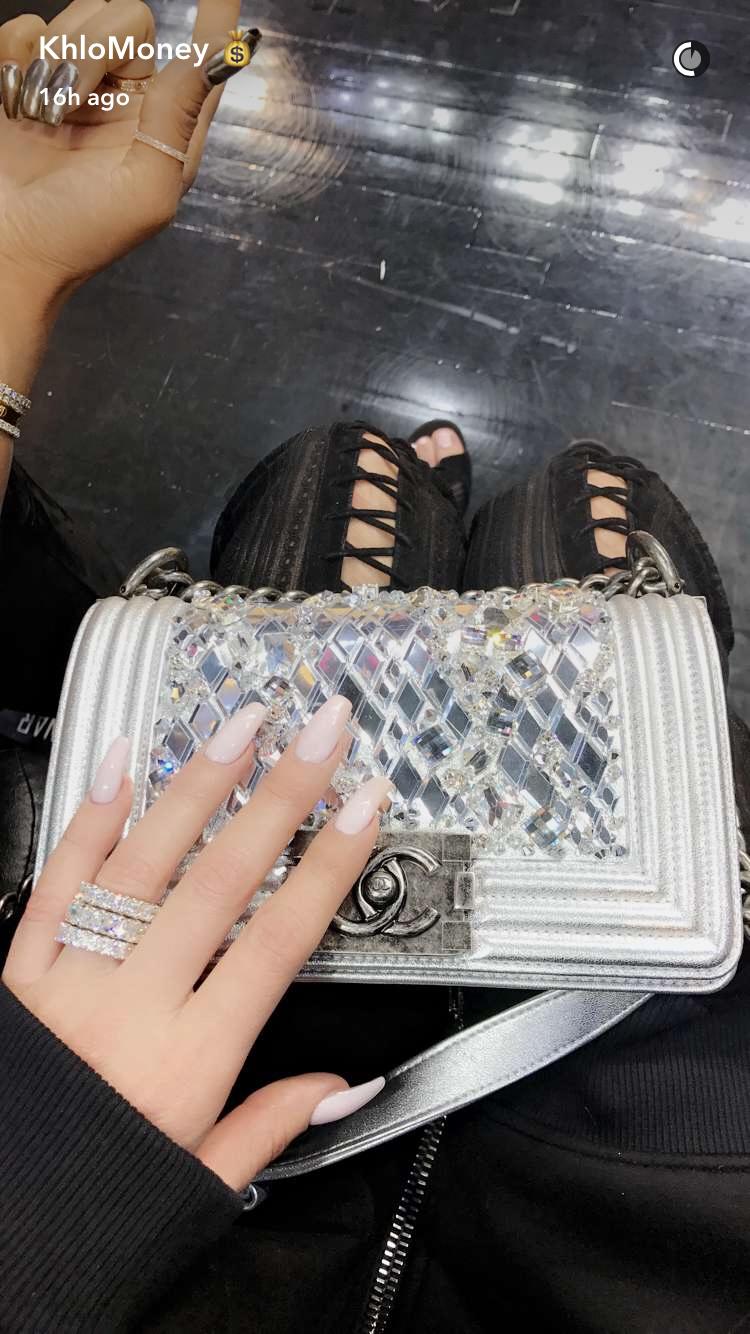 Khloe Kardashian Wears Diamond Rings On Date With Tristan
