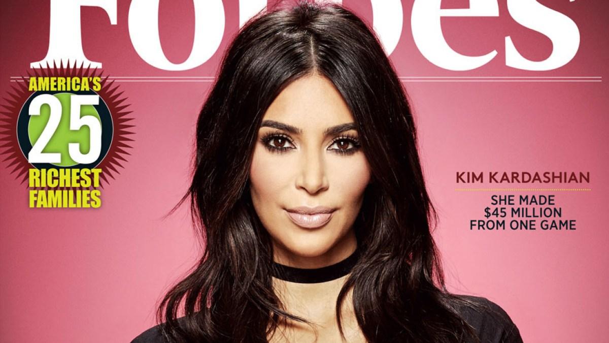 Kim Kardashian Covers \'Forbes\' as \'Mobile Mogul,\' Game Earns $160M