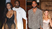 Kim Kardashian, Kanye West, Tristan Thompson and Khloe Kardashian