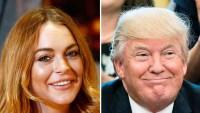 Lindsay Lohan Donald Trump