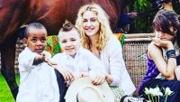 Madonna with David, Rocco and Lourdes in Malawi