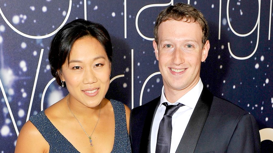 Priscilla Chan and Mark Zuckerberg attend the Breakthrough Prize Awards Ceremony Hosted By Seth MacFarlane at NASA Ames Research Center on November 9, 2014 in Mountain View, California.