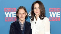 "Mary-Louise Parker and her son William Parker (left) attend the ""When We Rise"" New York Screening Event at The Metrograph on February 22, 2017 in New York City."