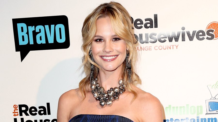"""Meghan King Edmonds attends the premiere party for Bravo's """"The Real Housewives of Orange County"""" 10 Year Celebration at Boulevard3 on June 16, 2016 in Hollywood, California."""