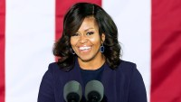 Michelle Obama speaks during the Hillary Clinton 'Get Out The Vote' campaign rally with Bruce Springsteen and Jon Bon Jovi at Independence Hall on November 7, 2016 in Philadelphia, Pennsylvania.