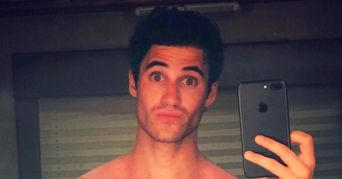 Darren Criss Teases Fans With Basically Naked Mirror Selfie-4997