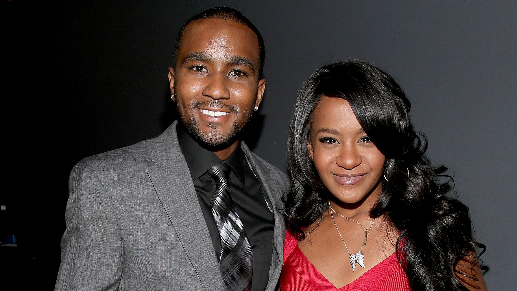 "Nick Gordon and Bobbi Kristina Brown attend ""We Will Always Love You: A GRAMMY Salute to Whitney Houston"" at Nokia Theatre L.A. Live on October 11, 2012."
