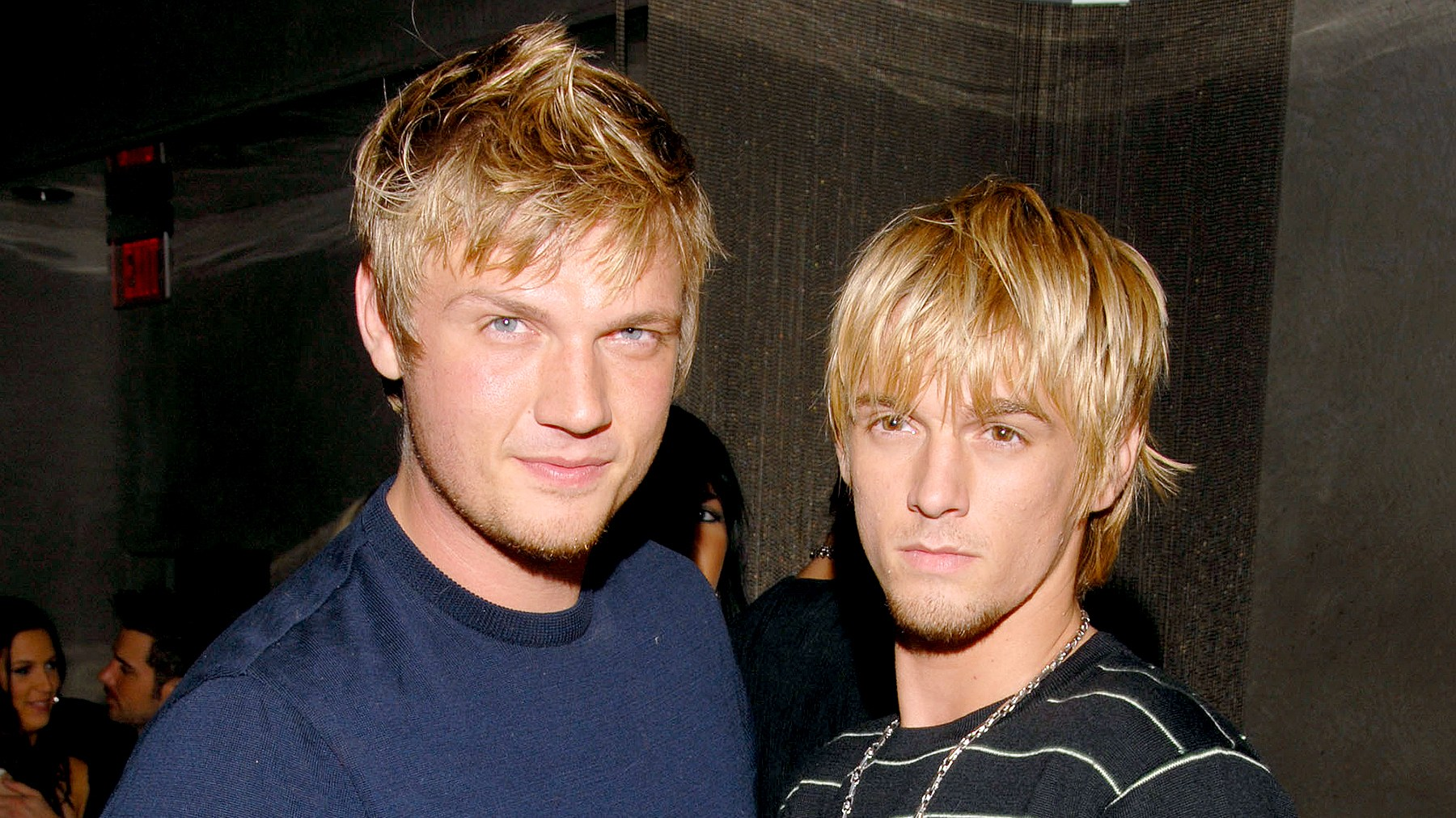 Nick Carter and Aaron Carter during Howie Dorough's Birthday Party at LAX in Hollywood, California, in 2006.