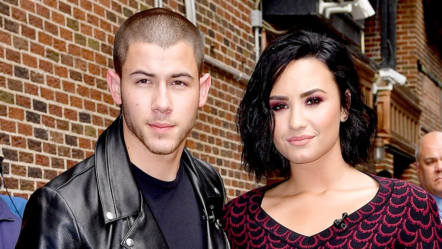 Nick Jonas and Demi Lovato visit 'The Late Show With Stephen Colbert' at the Ed Sullivan Theater on June 16, 2016, in New York City.
