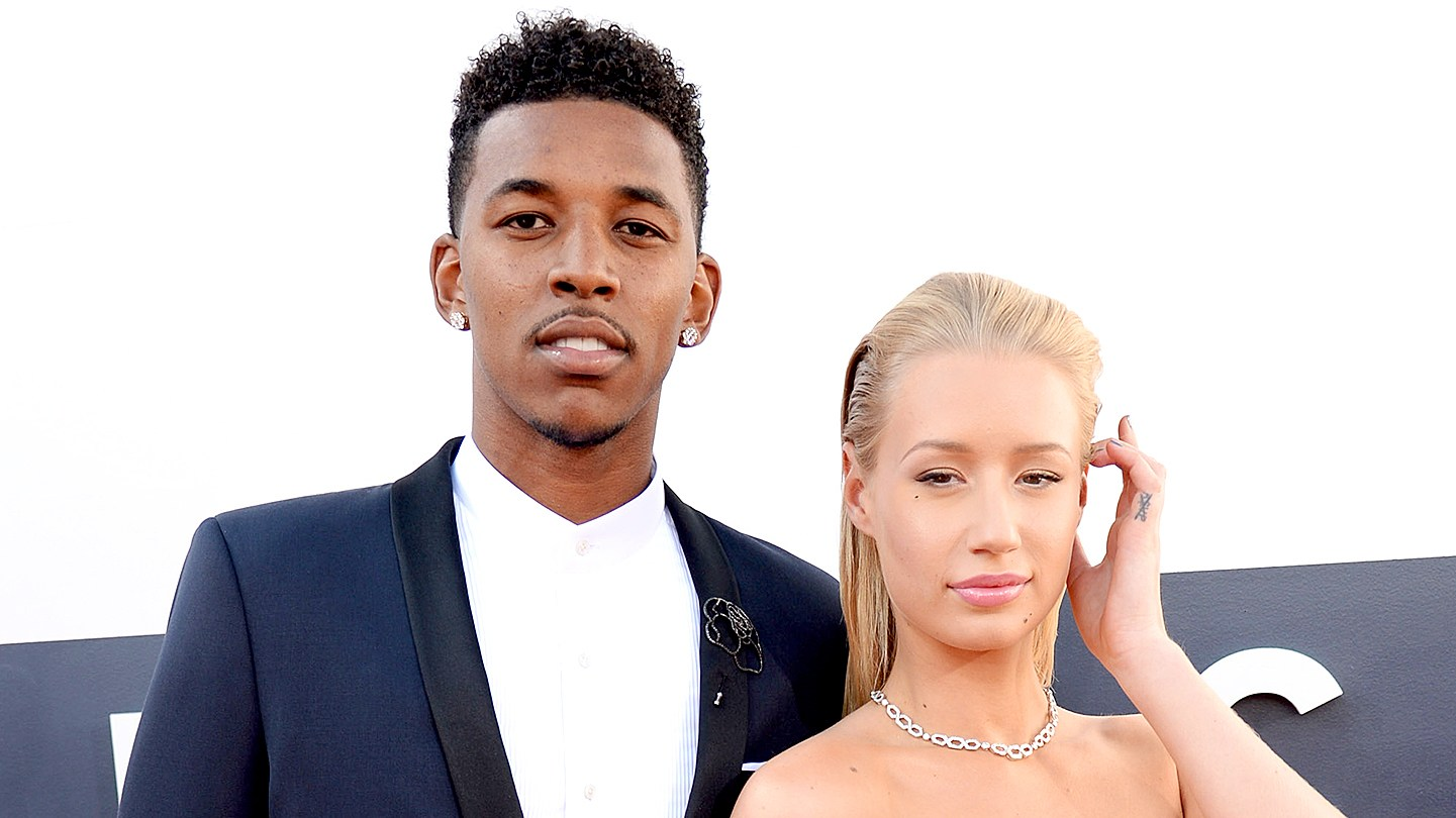 Nick Young and Iggy Azalea attends the 2014 MTV Video Music Awards.