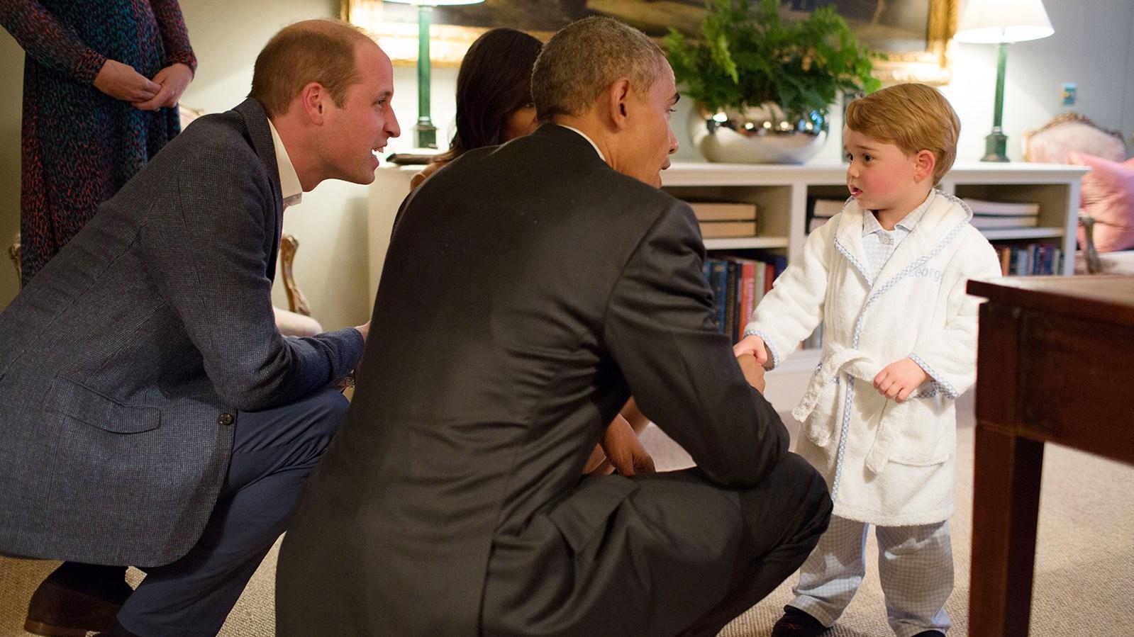 President Obama, Prince William, Princess Kate, Prince George
