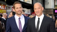 """Paul Walker and Vin Diesel attend the """"Fast & Furious 6"""" World Premiere at The Empire, Leicester Square on May 7, 2013 in London, England."""