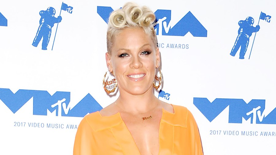 Pink poses in the press room at the 2017 MTV Video Music Awards at The Forum on August 27, 2017 in Inglewood, California.