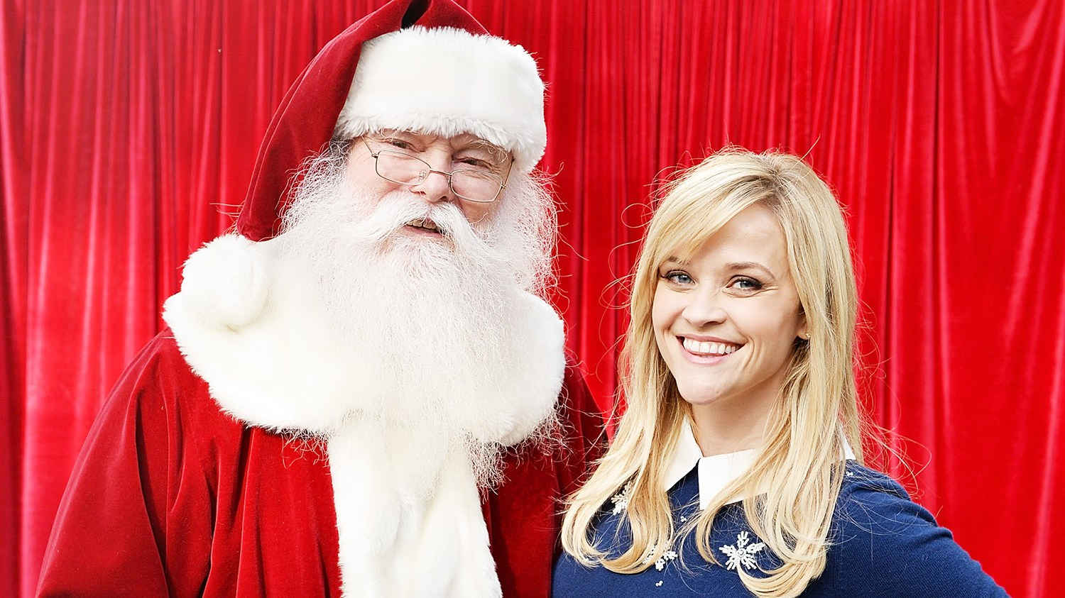 Santa Claus and Reese Witherspoon at The Grove in L.A.
