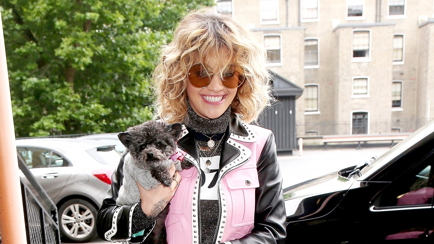 Rita Ora and her dog