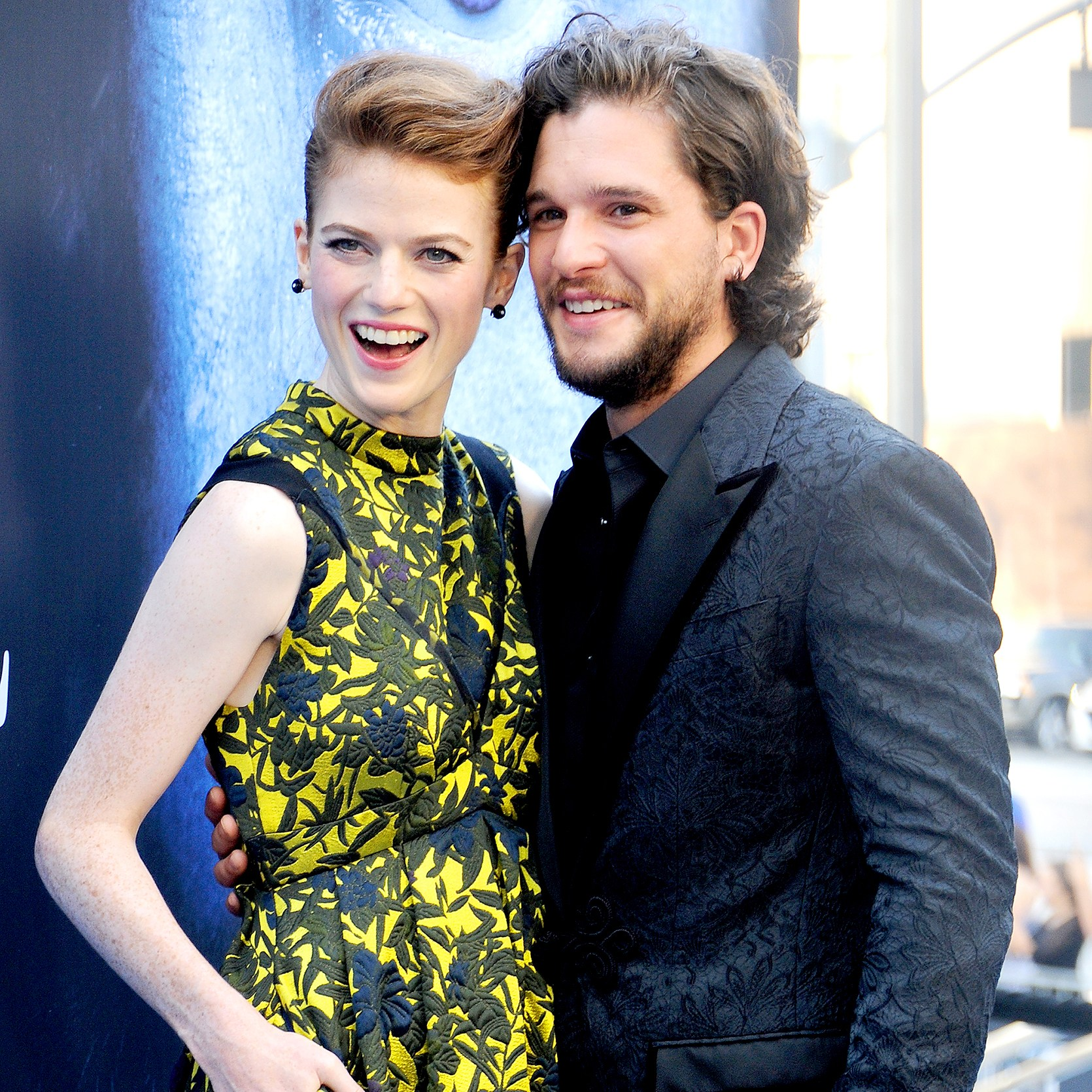 "Kit Harington and Rose Leslie arrive at the premiere of HBO's ""Game Of Thrones"" Season 7 at Walt Disney Concert Hall on July 12, 2017 in Los Angeles, California."