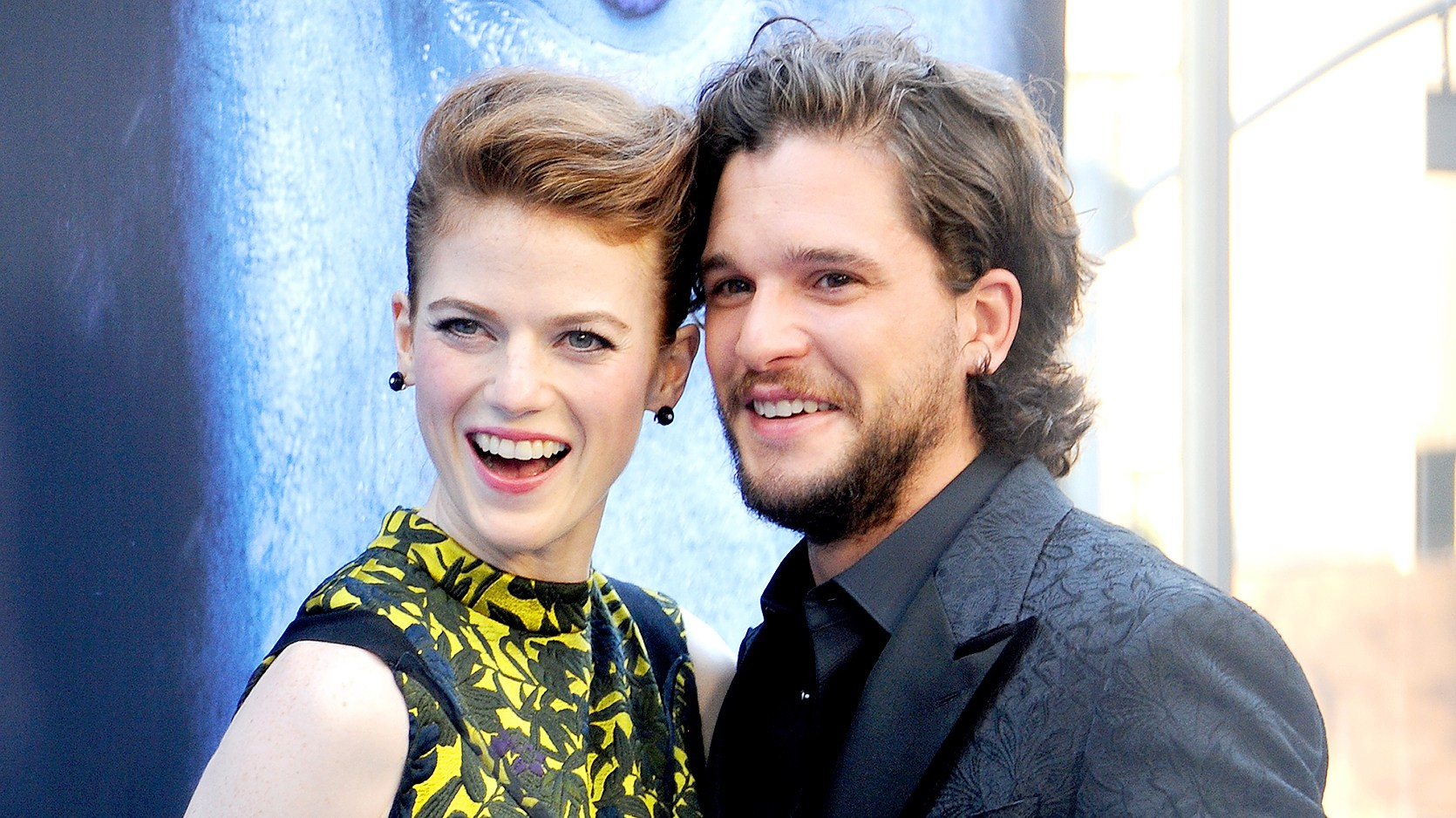 """Kit Harington and Rose Leslie arrive at the premiere of HBO's """"Game Of Thrones"""" Season 7 at Walt Disney Concert Hall on July 12, 2017 in Los Angeles, California."""