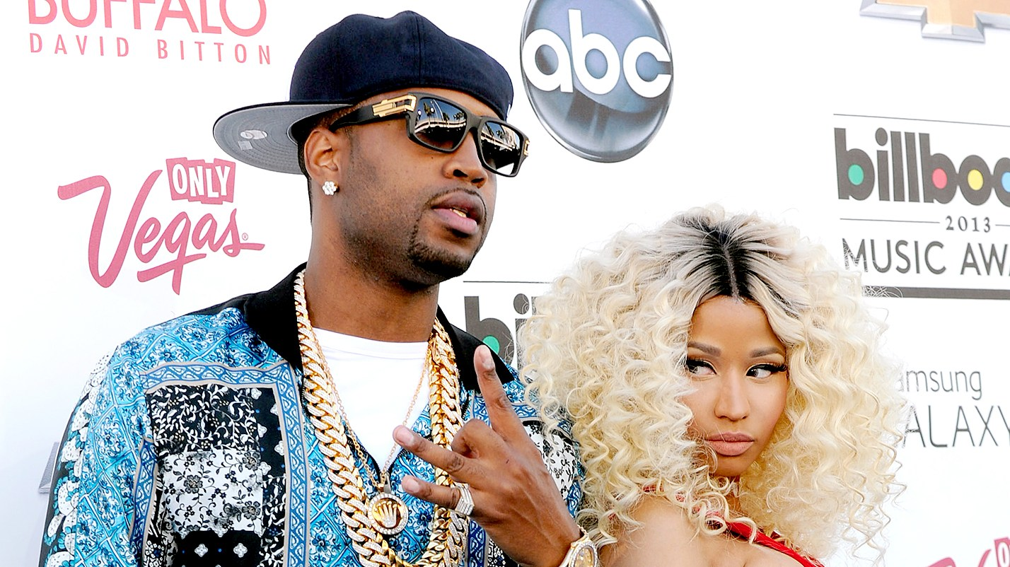 Safaree Samuels and Nicki Minaj arrive at the 2013 Billboard Music Awards.